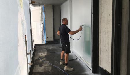 spraying protection film window